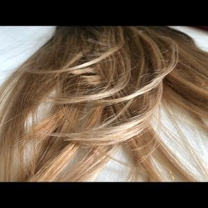 Luxy Hair clip-in extensions/ombré blonde